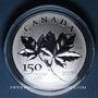 Monnaies Canada. 10 dollars 2017 Feuilles d'érable - 150e anniversaire du Canada. 999,9 /1000. 15,87 g