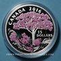 Monnaies Canada. 15 dollars 2016. Cerisier en fleur. 999,9 /1000. 23,17 g
