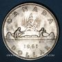 Monnaies Canada. Elisabeth II (1952- /). 1 dollar 1961