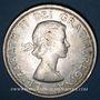 Monnaies Canada. Elisabeth II (1952- /). 1 dollar 1964. Charlottetown