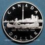 Monnaies Canada. Elisabeth II (1952- /). 1 dollar 1984. 150ième anniversaire de Toronto