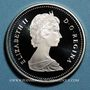 Monnaies Canada. Elisabeth II (1952- /). 1 dollar 1986. 100ième anniversaire de Vancouver