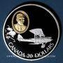 Monnaies Canada. Elisabeth II (1952- /). 20 dollars 1992. Aviation canadienne - Le Gipsy Moth