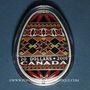 Monnaies Canada. Elisabeth II (1952- /). 20 dollars 2016 Art traditionnel ukranien de l'oeuf pyssanka