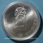 Monnaies Canada. Elisabeth II (1952- /). 5 dollars 1973. J.O. Montréal. Carte d'Amérique du Nord