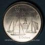 Monnaies Canada. Elisabeth II (1952- /). 5 dollars 1973. J.O. Montréal. Voiliers