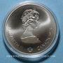 Monnaies Canada. Elisabeth II (1952- /). 5 dollars 1975. J.O. Montréal. Javelot féminin