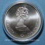 Monnaies Canada. Elisabeth II (1952- /). 5 dollars 1976. J.O. Montréal. Flamme olympique