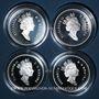 Monnaies Canada. Elisabeth II. 50 cents 1999. Série de 4 monnaies chats