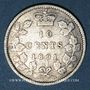 Monnaies Canada. Victoria (1837-1901). 10 cents 1891