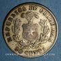 Monnaies Chili. République. 20 centavos 1892 /02