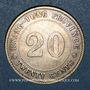 Monnaies Chine. République. 20 cents an 9 (1920)