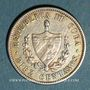 Monnaies Cuba. République. 10 centavos 1915
