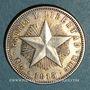 Monnaies Cuba. République. 20 centavos 1915