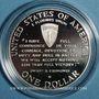 Monnaies Etats Unis. 1 dollar 1993W. 50e anniversaire du débarquement