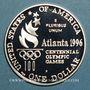 Monnaies Etats Unis. 1 dollar 1996P Philadelphie. J.O. d'Atlanta, tennis féminin (PTL 900/1000. 26,73 g)