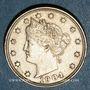 Monnaies Etats Unis. 5 cents 1904
