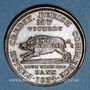 Monnaies Etats Unis. Hard Times token. Jeton satirique. Running boar, 1834. Cuivre. 28,6 mm