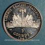Monnaies Haïti. République (1863- /). 5 gourdes 1967