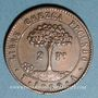 Monnaies Honduras. Monnayage provisoire. 2 pesos 1862 TA