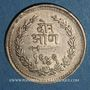 Monnaies Inde. Baroda. Savaji Rao III (1875-1938). 2  annas VS 1949 (1892)