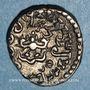 Monnaies Inde. Empire Gupta. Kumaragupta I (415-455). Drachme