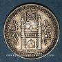Monnaies Inde. Hyderabad. Mir Mahbub Ali Khan (1285-1329H = 1869-1911). 8 annas 1328H/43 = 1910