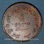 Monnaies Inde. Kutch. Khengarji III (1932-98VS = 1875-1942). 3 dokda au nom de Georges V 1934 = 1990VS