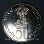 Monnaies Inde. République. 50 roupies 1976 (B) Mumbai