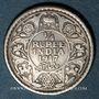 Monnaies Indes Anglaises. Georges V (1910-1936). 1/4 roupie 1917 (c). Calcutta