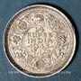 Monnaies Indes Anglaises. Georges VI (1936-1952). 1/4 roupie 1943B. Bombay