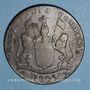 Monnaies Indes anglaises. Présidence de Madras. 20 cash 1803
