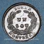 Monnaies Lower Canada  (Bas-Canada = Québec). Banque du Peuple. 1 sou token (1838)