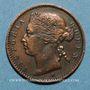 Monnaies Malaisie. Etablissements des détroits (Straits Settlements). Victoria (1837-1901). 1/4 cent 1872