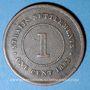Monnaies Malaisie. Etablissements des détroits (Straits Settlements). Victoria (1837-1901). 1 cent 1883