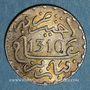 Monnaies Maroc. Hassan I (1290-1311H). 1/2 dirham 1310H. Paris