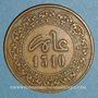 Monnaies Maroc. Hassan I (1290-1311H). 2 fulus 1310H. Fès