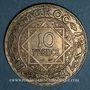 Monnaies Maroc. Mohammed V (1346-1380H). 10 francs 1352H. Paris
