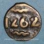 Monnaies Maroc. Moulay Abd al-Rahman (1276-90H= 1859-73). Fals, 1262H