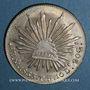 Monnaies Mexique. 1ère République. 8 reales 1863  M° TH. Mexico