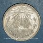 Monnaies Mexique. 2e République. 50 centavos 1943