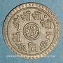 Monnaies Népal. Prithvi Bir Bikram (1881-1911). 1/2 mohar  1827 ES (=1905)