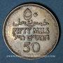 Monnaies Palestine. Administration britannique. 50 mils 1931