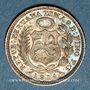 Monnaies Pérou. République. 1/2 dinero 1914 F.G.