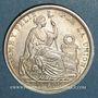 Monnaies Pérou. République. 1/2 sol 1917 F.G.