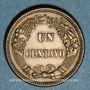 Monnaies Pérou. République. 1 centavo 1863