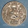 Monnaies Pérou. République. 1 sol 1890TF