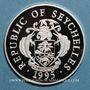 Monnaies Seychelles. 25 roupies 1995 (PTL 925/1000. 28,28 g)