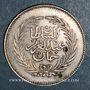 Monnaies Tunisie. Abdoul Aziz avec Mohammed el-Sadok (1277-1293H = 1861-1876). 2 piastres 1288H