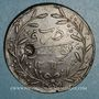 Monnaies Tunisie. Abdoul Mejid & Muhammad, bey (1272-76H = 1856-60). 1 kharoub contremarqué/ 6 nasri